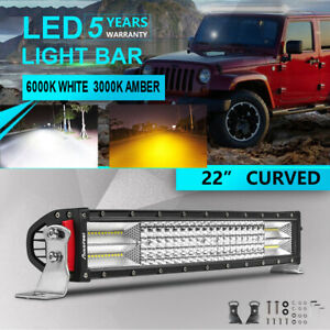 22inch Led Light Bar Quad Row 1800w Osram Curved Combo Work Lamp Vs 20 24 32