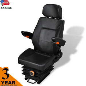 Universal Waterproof Tractor Seat With Arm Rest And Head Rest With Spring New