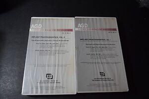 2 Agd Vhs Tapes Dentistry Implant Prosthodontics Retained Dentures Non Removable