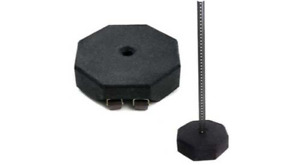 60lb Rubber Base With 1 1 2 Center Hole For 1 5 Pvc Post Use Signs Upto 24x36