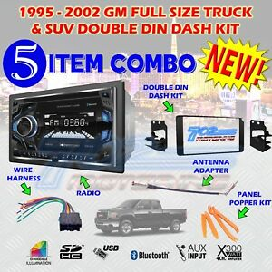 1995 2002 Gm Full Size Truck Suv Double Din Car Stereo Installation Dash Kit G