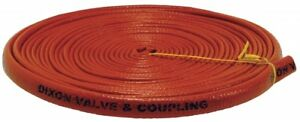 Dixon 50ft Iron Oxide Red Silicone Rubber Over Fiberglass Fire Jacket For Hose