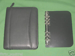 Compact Removable 1 0 Rings Black Leather Franklin Covey Planner Binder 2138