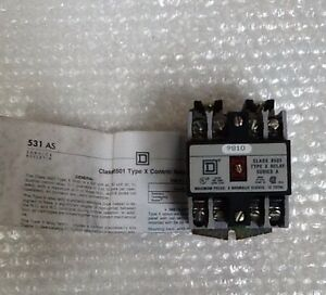 Square D Ac Control Relay Form 9810 Type X040v02 Class 8501