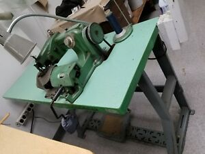 Wmc Premier Overlock blindstitch Sewing Machine Industrial On Table Works Well