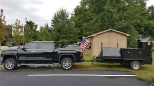 Big Foot Bbq Smoker Grill Trailer Food Truck Mobile Catering Concession Vending