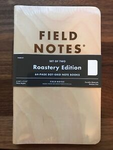 New Sealed Field Notes Roastery Limited Edition Starbucks Reserve Collector Item