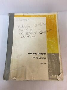 Case 860 Turbo Trencher Parts Manual Book Catalog