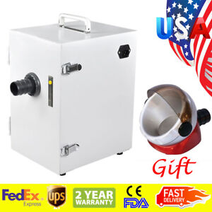 Portable Dental Digital Single row Dust Collector Vacuum Cleaner W Suction Base