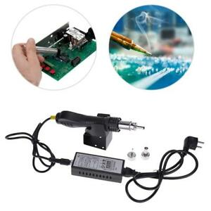 Hot Air Gun Rework Station Heat Gun Solder Blower With 3pcs Replaceable Nozzles