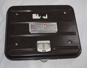 Vintage Borg Brown Industrial Work Shipping Postal Scale Zero 100 Pounds