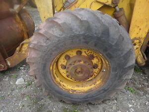Allis Chalmers 840 Loader One Tire Rim 16 9 24 Ag Tread Tractor Ford Ih Case