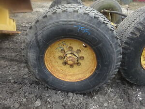 Ford 755 Tractor Tires Rims 14 17 5 Nice Set 7500 Backhoe Loader 750 6500