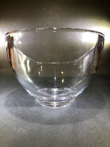 Large Vintage Mid Century Modern Ritts Astrolite Lucite Acrylic Thick Heavy Bowl