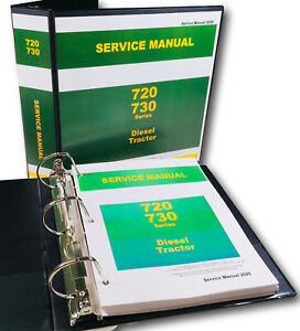 Service Manual For John Deere 720 730 Diesel Tractor Technical Repair Shop Ovhl