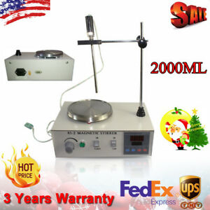 Heating Magnetic Stirrer 85 2 Digital Hot Plate Thermostat 2000ml 200w Stirrer