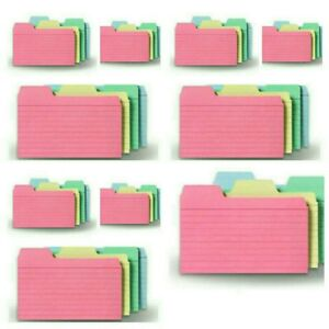 480 Ruled Find it Tabbed Index Cards 3 X 5 Assorted Colors 10 Packs Of 48 Lot