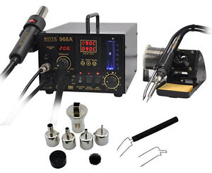 110v Aoyue 968a Smd smt Hot Air solder Station smoking Device 3 In1 Repair H