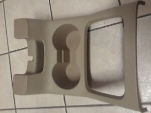 Ford Expedition Center Console Cup Holder Tan 2003 2004 2005 2006 Bezel Section