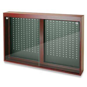 Jewelry Store Display Cherry Oak Finish Sliding Doors Display W Removable Hooks