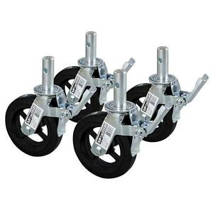 8 in scaffold caster wheel ladders scaffolding parts cast iron light equipment