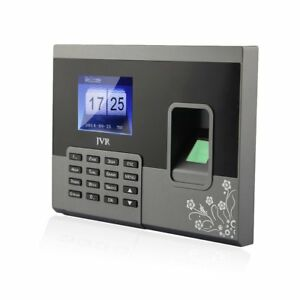 Biometric Time Clock Fingerprint Attendance System For Small Business Premium