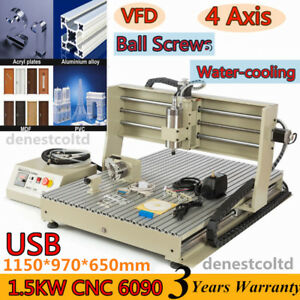 Usb 1 5kw Cnc Router Engraver Machine 6090 Ball Screw Metalworking Woodworking