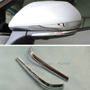 New Chrome Rearview Mirror Trim For Toyota Camry 2018 2019 2020