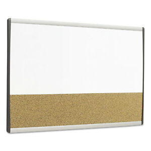 Quartet Magnetic Dry erase cork Board 18 X 30 White Surface Silver Aluminum
