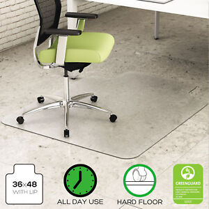 Deflecto Environmat Recycled Anytime Use Chair Mat For Hard Floor 36 X 48 W lip