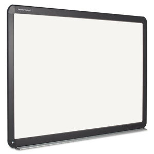 Mastervision Interactive Magnetic Dry Erase Board 51 2 X 39 68 X 4 2 White black
