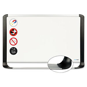 Mastervision Porcelain Magnetic Dry Erase Board 24x36 White silver Mvi030401