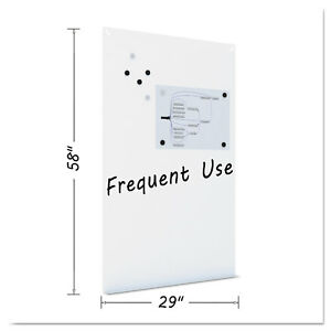 Mastervision Magnetic Dry Erase Tile Board 38 1 2 X 58 White Surface Det8125397