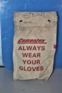 Cementex Canvas Bag And Gloves
