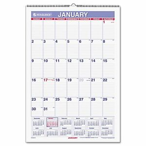 At a glance Pmlm03 28 Recycled Monthly Erasable Wall Calendar 15 1 2 X 22 2015