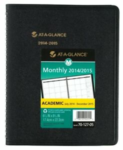 At a glance Academic fiscal Unruled Monthly Planner W memo Section 6 7 8 X