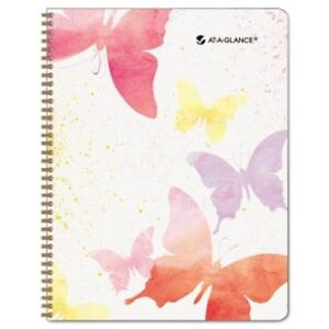 Day Runner Watercolors Recycled Weekly monthly Planner 8 1 2 X 11 Inches 2013
