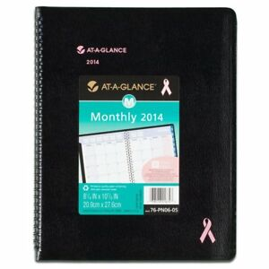 At a glance 2014 Quicknotes Special Edition Monthly Planner Black 9 25 X 11 38