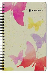 At a glance 2014 Watercolors Weekly And Monthly Planner 5 75 X 8 50 X 63