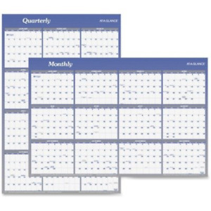 At a glance Vertical And Horizontal Erasable Yearly Wall Calendar 2015 48 X 32