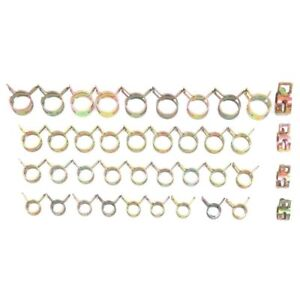 10x Spring Clips Fuel Hose Vacuum Line Silicone Pipe Tube Band Clamps Fastener