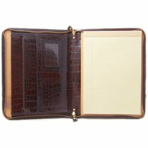 Pratesi Unisex Italian Leather Dante King Portfolio Notepad Holder In Brown