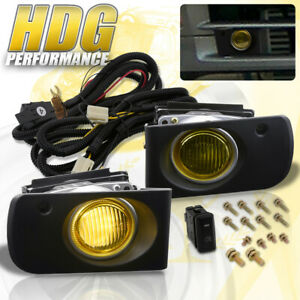 For Acura Integra 94 97 Yellow Lens Fog Lights Driving Lamp Switch Harness Pair