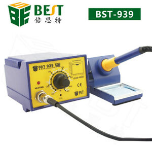 Anti static Soldering Smd Iron Pen Rework Station With Stand 110v best Bst 939