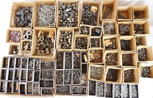 Huge Lot Of Hardware Over 125 Pounds Of Nuts Bolts Washers Nos