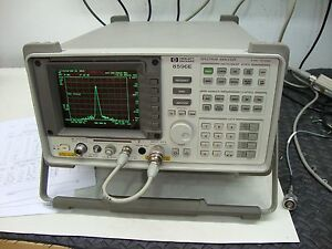 Hp Agilent 8596e Spectrum Analyzer Calibrated With Tracking Generator 12 8 Ghz