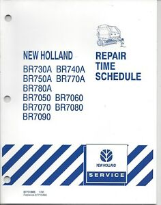 New Holland Br Series Baler Repair Time Schedule Manual
