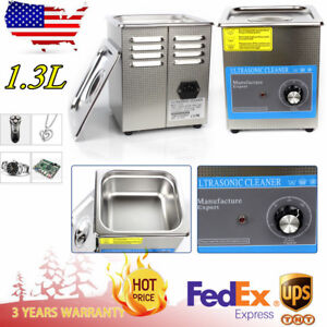 1 3l Digital Ultrasonic Cleaner For Jewellery Watches Dental Clinics With Timer