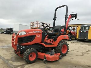 2013 Kubota Bx1870 4x4 Diesel Lawn Tractor Only 115 Hours 54 Mower Pto 3 Point