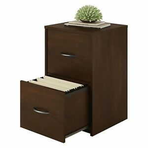 Ameriwood 2 Drawer Cabinet File Office Wood Storage Home Furniture Espresso New